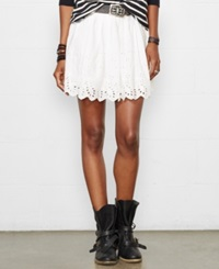 Denim And Supply Ralph Lauren Eyelet Mini Skirt