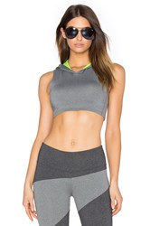 Solow Invert Hooded Sports Bra Grey