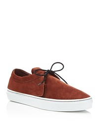 Clear Weather Santora Suede Flap Lace Up Sneakers Henna