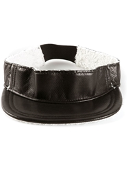 Baja East Shearling Visor Black