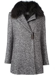 Fabiana Filippi Fur Collar Coat Black