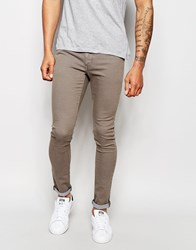 Asos Extreme Super Skinny Jeans In Brown Beige