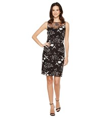 Tahari By Arthur S. Levine Sequin Sheath Dress Black White Women's Dress