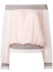 Tory Burch Off Shoulders Blouse Pink Purple