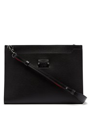 Christian Louboutin Skypouch Loubicity Stud Embellished Leather Clutch Black Multi