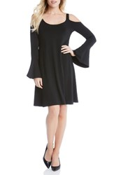 Karen Kane Women's Cold Shoulder Bell Sleeve Dress