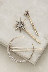 Anthropologie Stellar Hair Set Silver