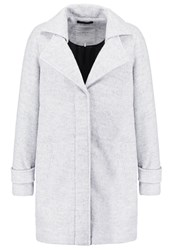 Minimum Berrit Classic Coat White Grey Melange Light Grey