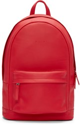 Pb 0110 Red Leather Ca 7 Backpack