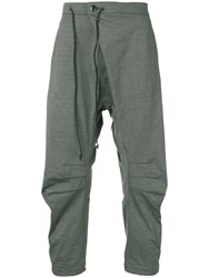 Attachment Dropped Crotch Trousers Grey
