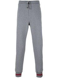 Dolce And Gabbana Striped Ankle Track Pants Grey