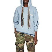 Ambush Oversized Multi Drawstring Cotton Hoodie Blue