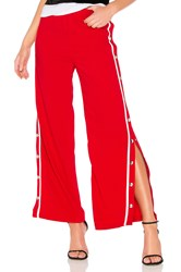 By The Way Bonnie Side Snap Track Pant Red