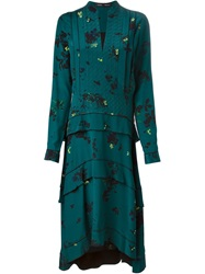 Proenza Schouler Tiered Shirt Dress Green