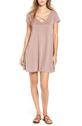 Socialite Women's Cross Front T Shirt Dress Antler