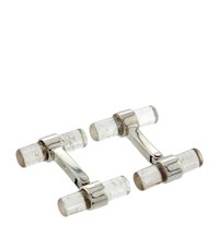 Tom Ford T Bar Quartz Cufflinks Unisex Silver