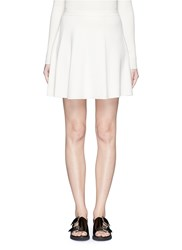 Theory 'Arryn' Slot Seam Flare Mini Skirt White