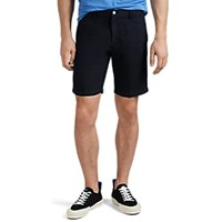 Massimo Alba Washed Linen Cotton Canvas Shorts Navy