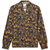 Norse Projects Carsten Paisley Shirt Black