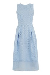 Warehouse Linear Dress Light Blue