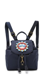 Tory Burch Flower Child Applique Backpack Tory Navy