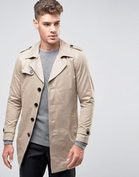 Selected Homme Trench Coat Desert Taupe Stone
