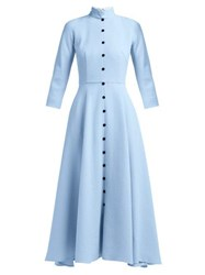 Emilia Wickstead Ashton Wool Crepe Dress Light Blue