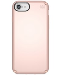 Speck Presidio Metallic Iphone 8 Case Rose Gold Metallic Dahlia Peach