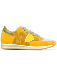 Philippe Model Lateral Patch Sneakers Yellow Orange