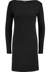 Majestic Cotton And Cashmere Blend Dress Black