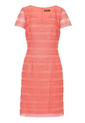 Vera Mont Stitched Mesh Dress Orange