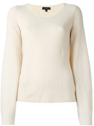 Etro Scoop Neck Longsleeved Pullover Nude And Neutrals