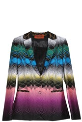 Missoni Slim Fit Blazer Black
