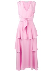 Stella Mccartney Tiered Evening Dress Pink