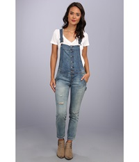 Free People Button Front Overall True Wash Women's Overalls One Piece Blue