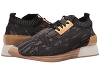 M4d3 Terry Black Stretch Fabric Women's Lace Up Casual Shoes