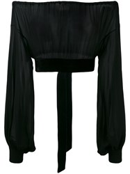 Saint Laurent Off The Shoulder Blouse Black