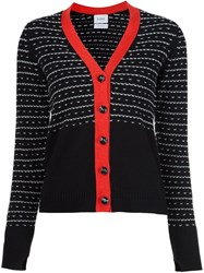 Barrie Panelled Cardigan Black