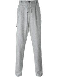 Brunello Cucinelli Cargo Pocket Trousers Grey