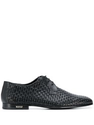 Baldinini Interwoven Derby Shoes Black
