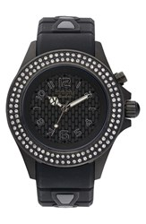 Kyboe 'Radiant' Crystal Bezel Silicone Strap Watch 40Mm