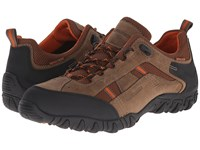Allrounder By Mephisto Selino Tex Taupe Ori Dark Brown Sandwich Mesh Men's Lace Up Casual Shoes