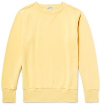 Levi's Vintage Clothing Bay Meadows Loopback Cotton Jersey Sweatshirt Yellow