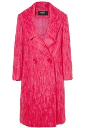Paper London Rainbow Mohair Blend Coat Pink
