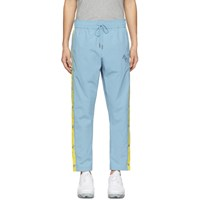 Aime Leon Dore Blue And Yellow Warm Up Logo Track Pants