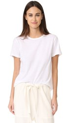 Vince Distressed Short Sleeve Tee White