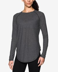 Under Armour Breathe Long Sleeve Top Carbon Heather