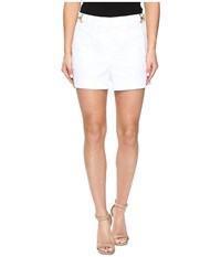Michael Michael Kors High Waist Stitch Shorts White Women's Shorts