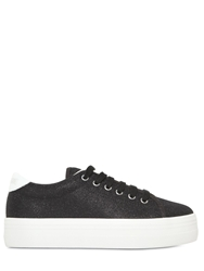 No Name 40Mm Plato Glitter Canvas Sneakers Black