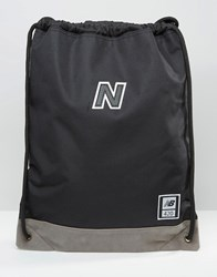 New Balance 420 Gymsack Backpack In Black Black Blue